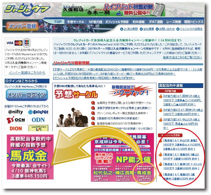 SoftBankが運営するジャジャウマで10年間オフィシャル予想家として予想を提供!