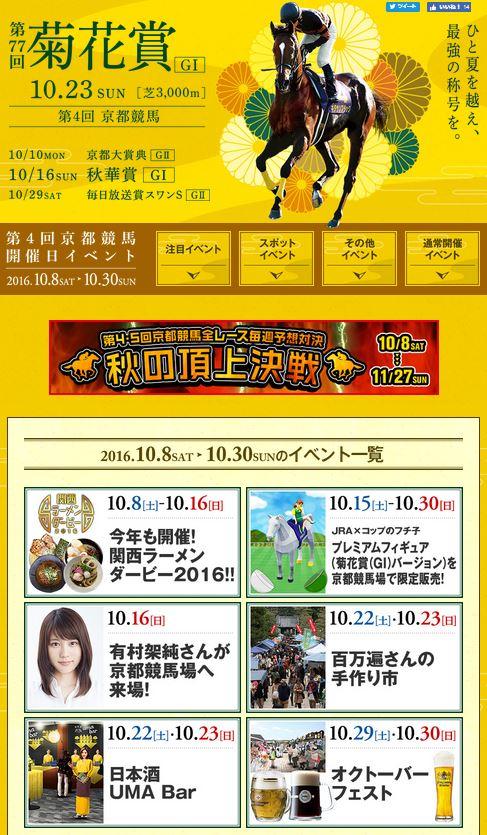 2016年10月新潟競馬場イベント情報詳細