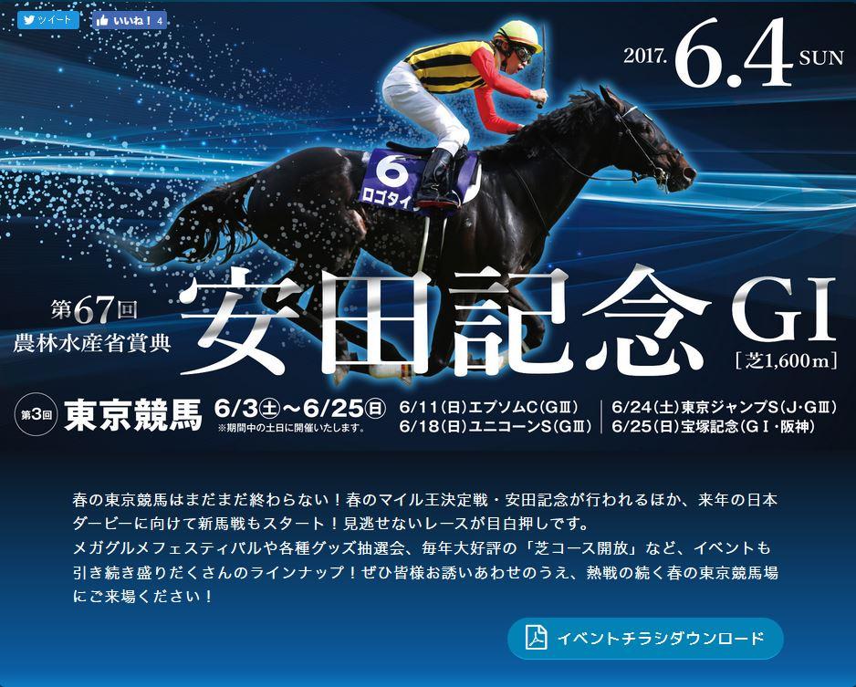 2017年06月東京競馬場イベント情報詳細