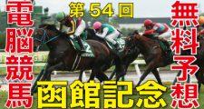 第54回-函館記念(GⅢ)予想-電脳競馬新聞