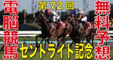 2018年9月17日 第72回 朝日杯セントライト記念(GⅡ)電脳競馬新聞無料予想