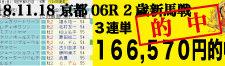 2018年11月18日-京都06R-2歳・新馬-電脳競馬新聞3連単166,570円的中!バナー