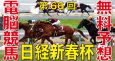 01月13日-第66回-日経新春杯(GⅡ)電脳競馬新聞無料予想バナー