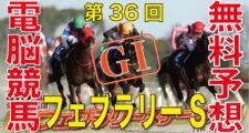 02月17日 第36回 フェブラリーステークス(GⅠ)電脳競馬新聞無料予想