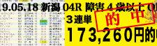 2019年05月18日-新潟04R-障害4歳以上オープン-電脳競馬新聞3連単173,260円的中!!バナー