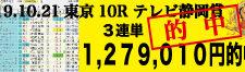 2019年10月21日-東京10R-テレビ静岡賞-電脳競馬新聞3連単1,279,010円的中!!バナー