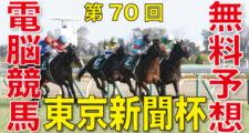02月09日 第70回 東京新聞杯(GⅢ)電脳競馬新聞無料予想
