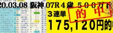 2020年03月08日-阪神07R-4歳500万上-電脳競馬新聞3連単175,120円的中!!バナー
