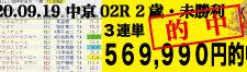 2020年09月19日-中京02R-2歳・未勝利-電脳競馬新聞3連単569,990円的中!!バナー