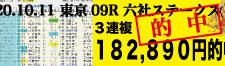 2020年10月11日-東京09R-六社ステークス-電脳競馬新聞3連複182,890円的中!!バナー