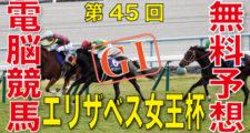 11月15日 第45回 エリザベス女王杯(GⅠ)電脳競馬新聞無料予想