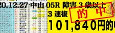 2020年12月27日-阪神05R-障害3歳以上未勝利-電脳競馬新聞3連単101,840円的中!!バナー