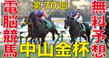 01月05日 第70回 中山金杯(GⅢ)電脳競馬新聞無料予想