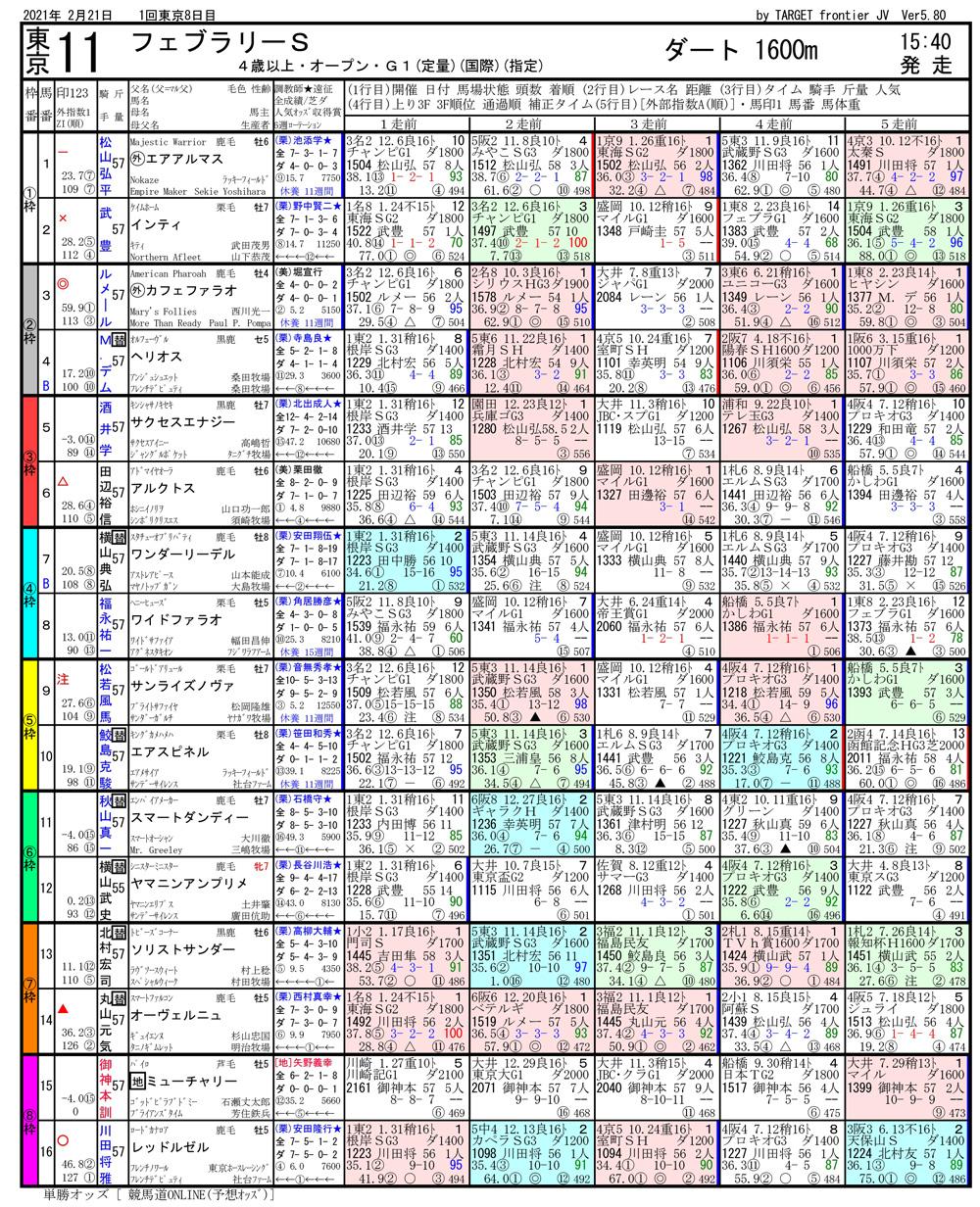 第37回 第38回 フェブラリーステークス(GⅠ)-電脳競馬新聞無料予想