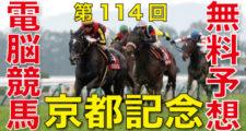 02月14日 第114回 京都記念(GⅡ)電脳競馬新聞無料予想