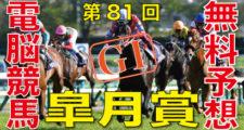 04月18日-第81回-皐月賞(GⅠ)電脳競馬新聞無料予想