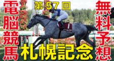08月22日 第57回 札幌記念(GⅡ)電脳競馬新聞無料予想