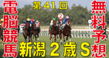 08月29日-第41回-新潟2歳ステークス(GⅢ)電脳競馬新聞無料予想